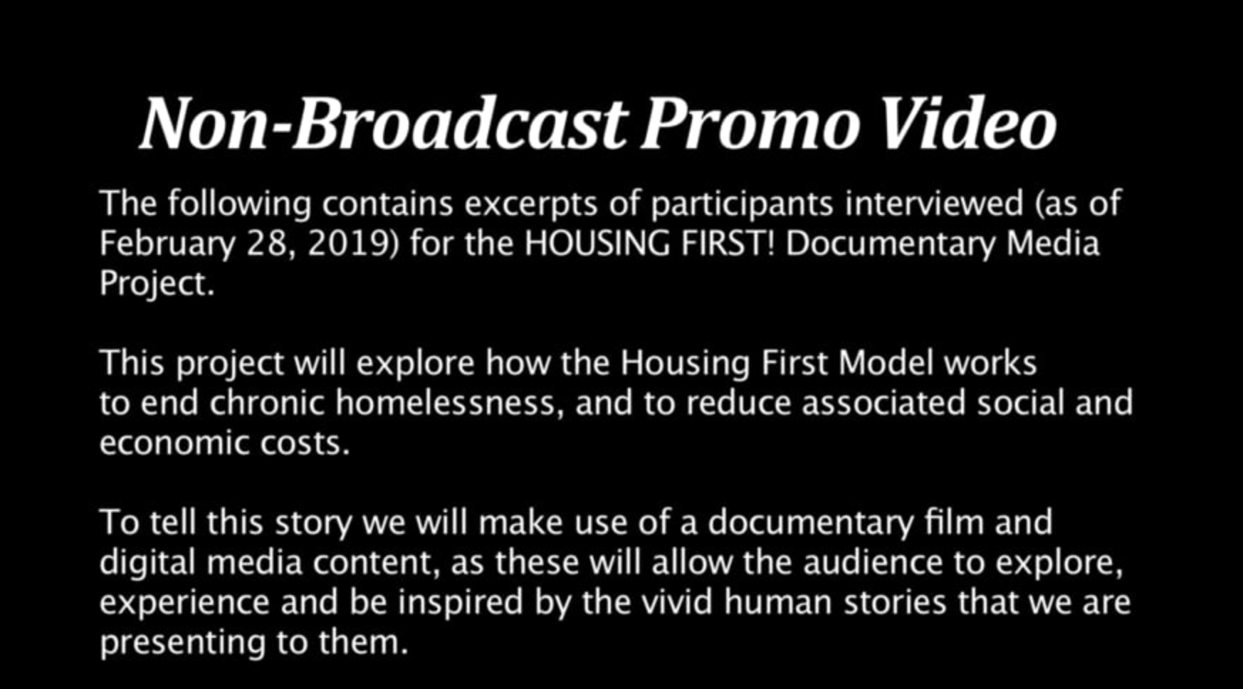 HF Non-Broadcast Promo Video - Opening Screen Shot